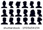 head silhouettes. female and... | Shutterstock . vector #1935654154