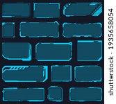 hud frames. digital futuristic... | Shutterstock . vector #1935658054