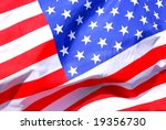 background of stars and stripes ... | Shutterstock . vector #19356730