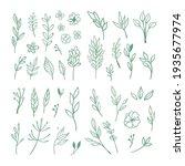 floral doodle design elements.... | Shutterstock .eps vector #1935677974