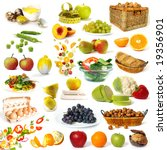 healthy food collection... | Shutterstock . vector #19356901