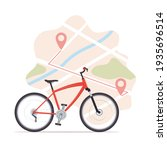 bike  map with start and finish ...   Shutterstock .eps vector #1935696514
