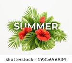 tropical summer background....   Shutterstock .eps vector #1935696934