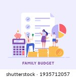 family budget planning. yong... | Shutterstock .eps vector #1935712057