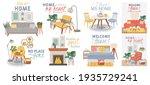 scandic cozy interiors. comfy... | Shutterstock . vector #1935729241