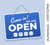 come in open sign. new normal... | Shutterstock . vector #1935732904