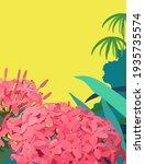 fresh cute hand drawn tropical... | Shutterstock .eps vector #1935735574
