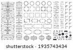 vintage calligraphic elements....   Shutterstock . vector #1935743434