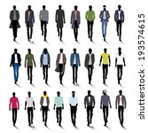 set of male fashion silhouettes ... | Shutterstock .eps vector #193574615