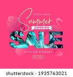 typography summer big sale... | Shutterstock .eps vector #1935763021
