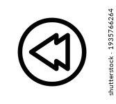 backward icon, fast backward icon vector from media player concept. Thin line illustration. fast backward linear. Backward icon in outline style
