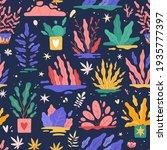 trendy plants seamless pattern. ...   Shutterstock .eps vector #1935777397