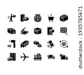logistics and distribution icon ... | Shutterstock .eps vector #1935785671