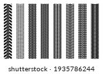 machinery tires track set  tire ... | Shutterstock .eps vector #1935786244