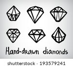 vector set of hand drawn... | Shutterstock .eps vector #193579241