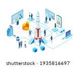 isometric 3d business... | Shutterstock .eps vector #1935816697