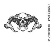 the devil skull. can be used as ... | Shutterstock .eps vector #1935830014