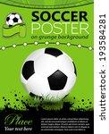 soccer poster with soccer ball... | Shutterstock . vector #193584281
