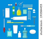 hygienic set of flat vector... | Shutterstock .eps vector #193584455