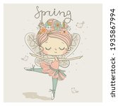 Cute Dancing Fairy  Ballerina...