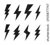 lightning bolt icons with... | Shutterstock .eps vector #1935877747