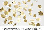 Explosion Of Golden Coins On...