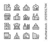 buildings line icons set....   Shutterstock .eps vector #1935931744