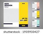 new set of editable minimal... | Shutterstock .eps vector #1935933427