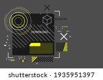 modern cyberpunk background in...   Shutterstock .eps vector #1935951397