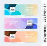 vector abstract design banner...   Shutterstock .eps vector #1935954457