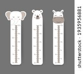 kids height chart. cute wall... | Shutterstock .eps vector #1935956881