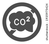 banned co2 sign solid icon ... | Shutterstock .eps vector #1935975424