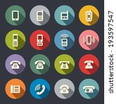 phone icon set | Shutterstock .eps vector #193597547