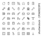 house icon set. collection of... | Shutterstock .eps vector #1936002391