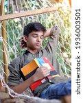 Indian Teenager Boy Resting...