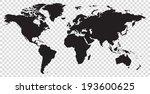 world map vector illustration | Shutterstock .eps vector #193600625