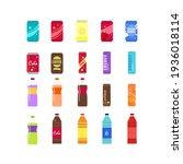 various kinds of drinks. bottle ...   Shutterstock .eps vector #1936018114