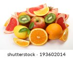 ripe fruit for a healthy feed  | Shutterstock . vector #193602014