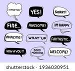 cute speech bubble doodle set   Shutterstock .eps vector #1936030951