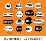 cute speech bubble doodle set   Shutterstock .eps vector #1936030954