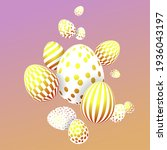 easter festive composition with ... | Shutterstock . vector #1936043197