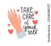 take care of yourself.... | Shutterstock .eps vector #1936048237
