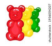gummy bear jelly sweet candy...   Shutterstock .eps vector #1936054207