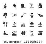 vector set of gardening flat... | Shutterstock .eps vector #1936056334