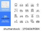 line icons about transport.... | Shutterstock .eps vector #1936069084