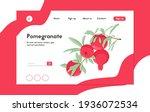 pomegranate fruits on branch...