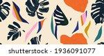 modern exotic jungle plants... | Shutterstock .eps vector #1936091077