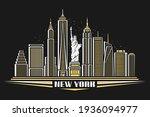 vector illustration of new york ... | Shutterstock .eps vector #1936094977