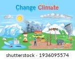 climate change. flat global... | Shutterstock .eps vector #1936095574