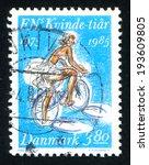 denmark   circa 1985  stamp...   Shutterstock . vector #193609805
